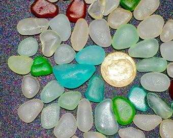"A-Sea Glass or Beach Glass of Hawaii 50! AQUA! OCEAN BLUE! 1/2""  Bulk Sea Glass! Bulk Sea Glass! Sea Glass Bulk! For jewelry!"
