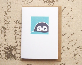 Cool Penguin - Greeting Card