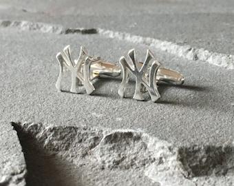 New York Yankees Cufflinks, NY Yankees, NY Yankees Cufflinks, Baseball Cufflinks, MLB Cufflinks, Baseball Jewelry, New York Yankees Logo