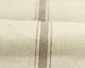 Grain Sack Fabric by the Yard- Three Stripe Tan