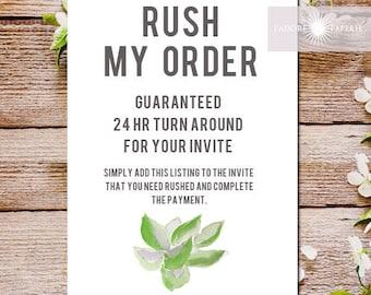 Rush My Order, Rush Service, Rush Order Service, 24 hr