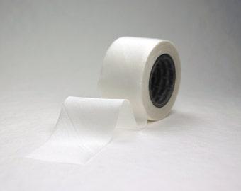 """Bias Cut Silk Ribbon 1"""" Blank (undyed) White one inch,  24mm wide  three yard length"""