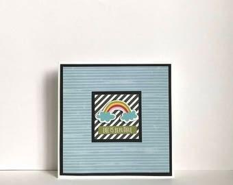 Life Is Beautiful Rainbow Handmade Card