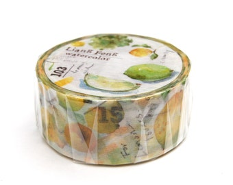 Liang Feng Sicily watercolor washi tape 20mm x 10M