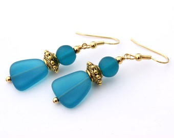 Blue Earrings Womens