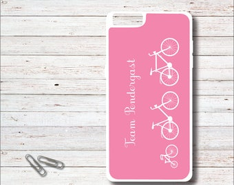 Bike Cell Phone Case, Personalized Phone Case,  iPhone Case, Mother's Day Gift, Family, Bikes, Bicycles, Tricycles