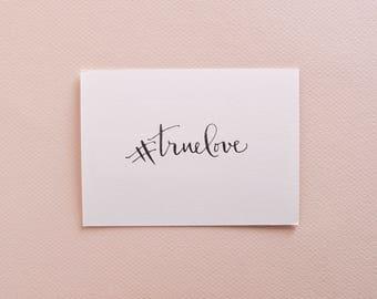Custom Hashtag Calligraphy Stamp - Wedding Hashtag