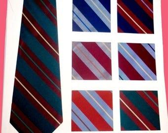 1950s Arrow Tie Advertising Salesmen's Sample To Frame as Art with Striped Prep Tie Silk Samples - N 3752 -