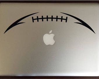 Football Lace Laptop Decal Computer Sticker