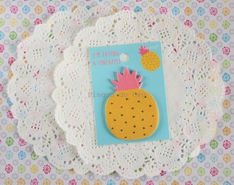 Pineapple Memo Pad - Sticky Note - Post It - Planner - Diary Planner - Bookmark - Ready to ship