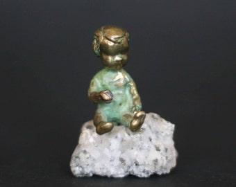 vintage malcolm moran bronze sculpture