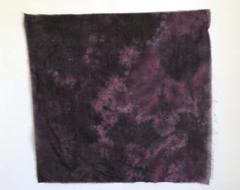 Hand Dyed Handkerchief Scarf in Plum and Eggplant Purple