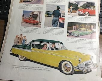1955 Advanced 55 Studebaker ad large 10x14.