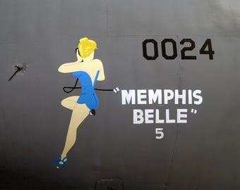 C-141 Memphis Belle Nose art Vintage image repro print 8 x10