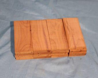 16 Red Cedar Knife Scales, Knife Handles Pistol Grips, Gun Handles, Knife Making supplies, E218