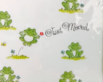 Vintage Sealed Moving Note Cards with Frogs, 10 Cards and Envelopes, Change of Address Cards, Moving Note Cards, House Warming Party