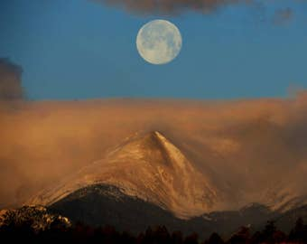 Full Moon Photography/ Full Moon over Mountains