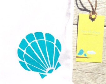 Kids - Blue Sea Shell - Ocean - Toddler T-Shirt or Baby Onesie