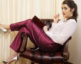 Vintage Monti Purple 90s High Waisted Formal Pants Slacks Crease Pants