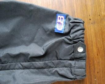Black CB wind pants 1980s