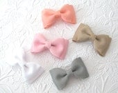 "Hair Bow Set ~ 3"" Toddler Bows ~ Boutique Grosgrain Tuxedo Hair Bows for Babies, Toddlers, Girls, Back to School Bows"