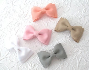 """Hair Bow Set ~ 3"""" Toddler Bows ~ Boutique Grosgrain Tuxedo Hair Bows for Babies, Toddlers, Girls, Back to School Bows"""