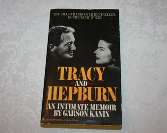Vintage Paperback Book Biography Tracy and Hepburn By Garson Kanin 1972 Movie Stars Actor Actress Film Motion Pictures