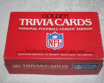 Vintage Golden Trivia Cards National Football League Edition NFL 1984