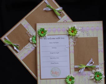 Welcome Baby Boy or Girl 2~12x12 Premade Scrapbook Layouts