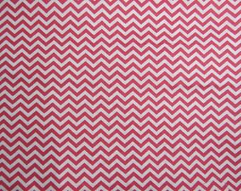 Pink chevron Fabric- Yardage- fabric by the yard- cotton fabric- quilting fabric- kids fabric- quilting cotton fabric by the yard- chevron