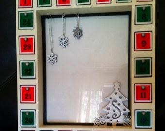 handmade wooden christmas advent calendar frame 8x10