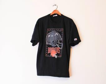 Vintage Black Cleveland Browns Football T Shirt