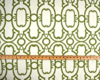 Green & White Reversible Upholstery Fabric Barrow M9647 Bergamot