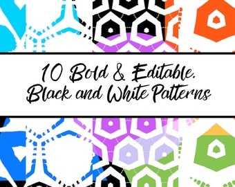 10 Bold and Editable, Black and White
