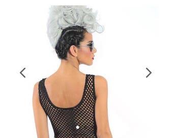 Black Fishnet Bodysuit