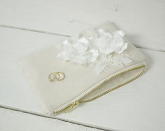 Bridal Purse | Photo Personalized Bridal Purse | Flower bridal clutch