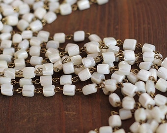 Vintage French Mother of Pearl Chain