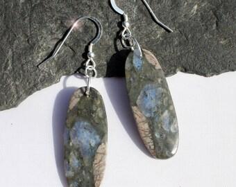 Summer Storm - Beautiful Llanite Sterling Silver Earrings