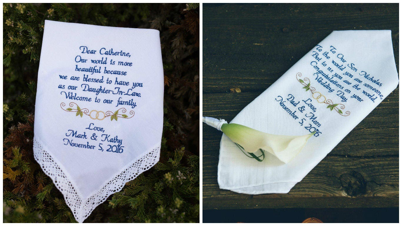 Father Daughter Wedding Gifts: To Our Son On His Wedding Day To Our Daughter From Mom And