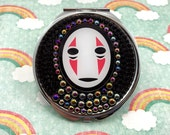 No Face Studio Ghibli Spirited Away Themed Double Pocket Purse Mirror Nerd Anime Manga Accessory Kawaii Planar Resin