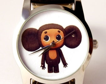 ON SALE 30% OFF Cheburashka watch, unisex watch, women watch, men wrist watch
