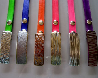 """Hand Forged Hypoallergenic Narrow Buckles to fit a 7/8"""" INTERCHANGEABLE Belt ~ Variety of Textures and Colours Available ~ Signed Original"""