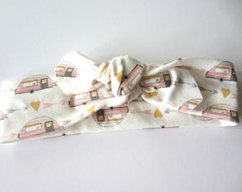Organic Cotton Knit Headband// Trailers // READY TO SHIP