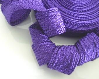 Art silk Moroccan trim , textured trim, purple, 5metres