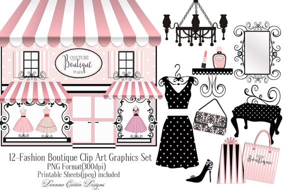 boutique clip art paris clip art dress clip art card making. Black Bedroom Furniture Sets. Home Design Ideas