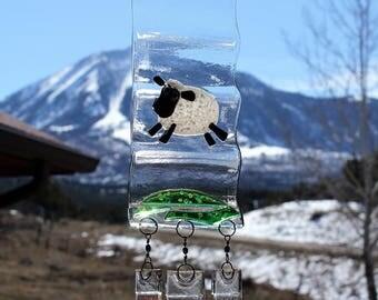 Dancing Sheep Suncatcher or Windchime View 4