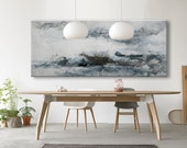 Large Abstract print from Original Painting seascape horizontal Painting 591