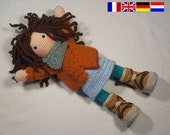 Crochet pattern for doll MONJA (Deutsch, English, Français, Nederlands)