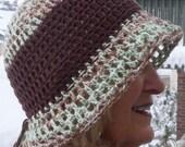 Sun hat summer cotton brimmed hat women's fashion women's crochet hat