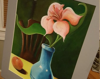 """Original Acrylic Painting """" Pink Flower"""" by FRall"""